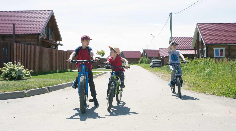 дети, покатушки на велосипеде, каменские холмы