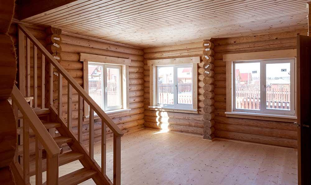 каменские холмы, деревянный коттедж внутри
