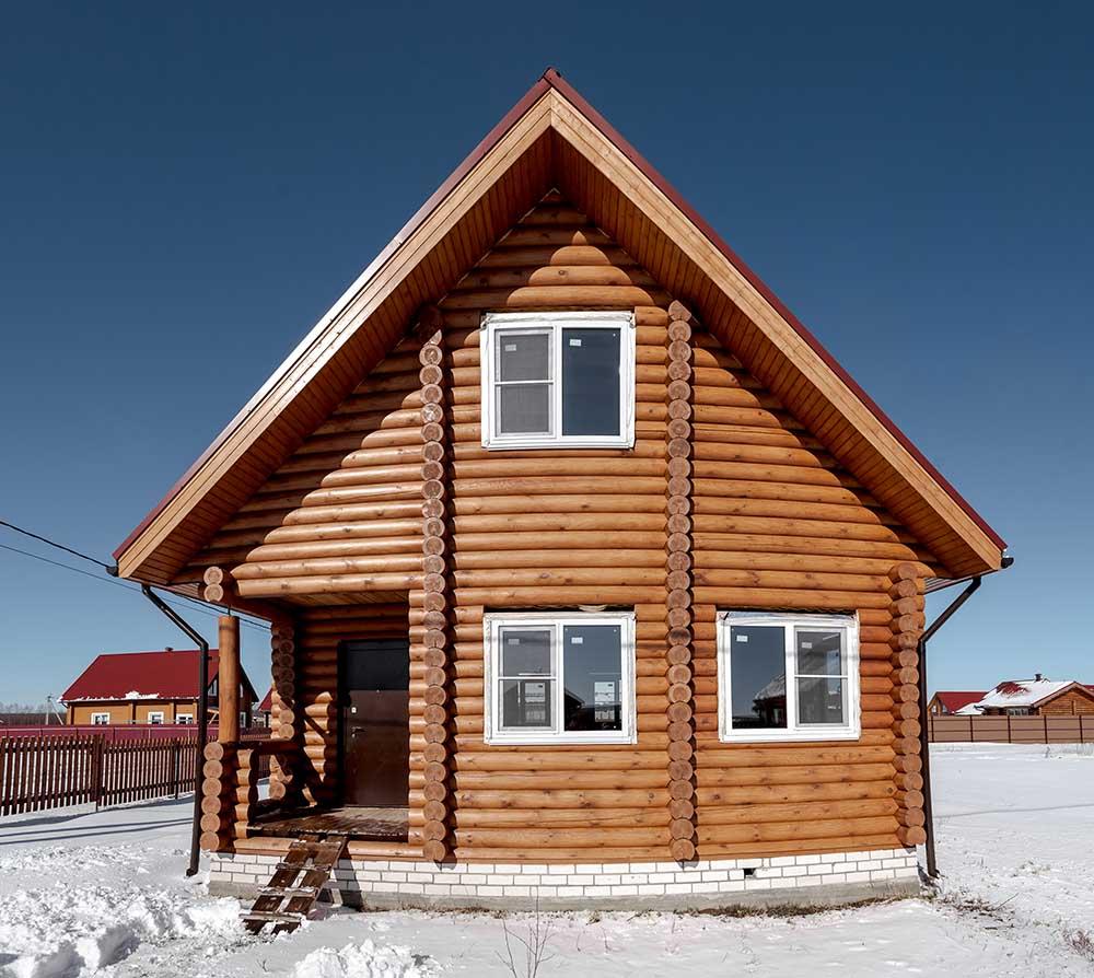 дом из оцилиндрованного бревна, купить дом в деревне богородского района, купить дом нижний новгород, каркасный дом купить