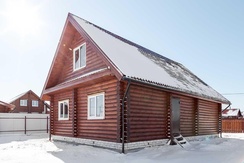 Дом в деревенском стиле, деревянный коттедж, каменские холмы