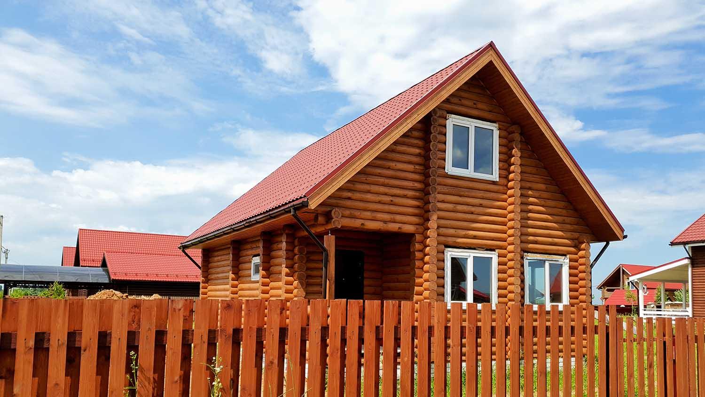 дом из оцилиндрованного бревна, каменские холмы дом, деревянный дом