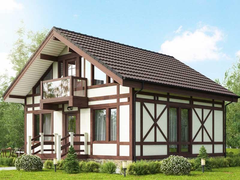 фахверковый каркасный дом, купить каркасный дом, каркасный дом под ключ, каркасный дом в нижегородской области, постройка каркасного дома